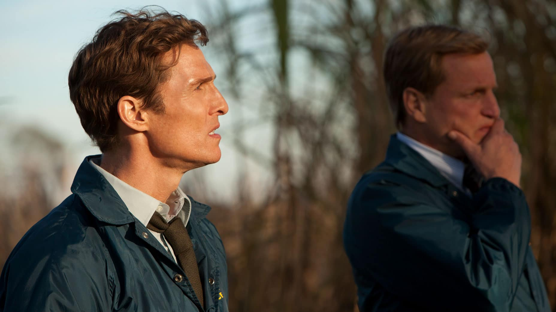 True Detective (2014), HBO, USA, 35mm, Detective Rust Cohle (Matthew McConaughey), Detective Marty Hart (Woody Harrelson)