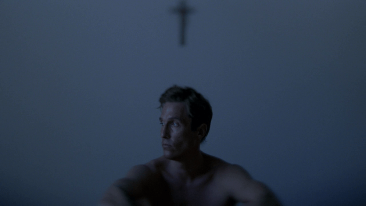 True Detective (2014), HBO, USA, 35mm, colour, sound, Rust Cohle (Matthew McConaughey)