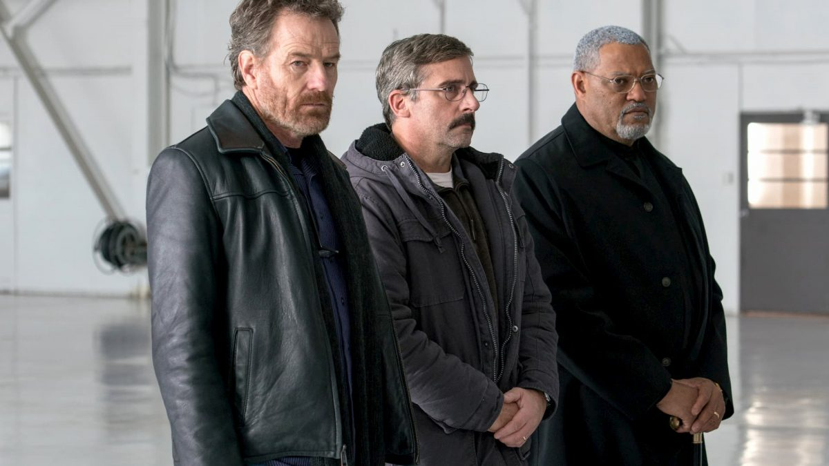 Last Flag Flying (Richard Linklater, 2017), Artificial Eye, USA, DCP, 164 minutes, Sal Nealon (Bryan Cranston), Reverend Richard Mueller (Laurence Fishburne), Larry 'Doc' Shepherd (Steve Carell)