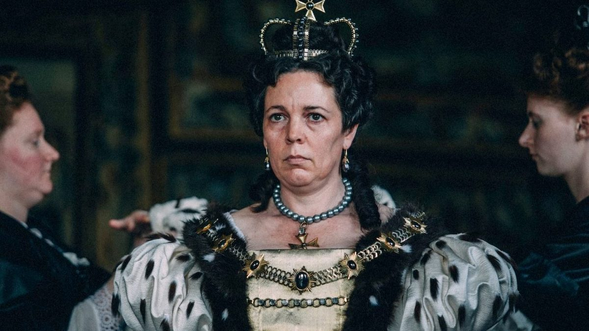 The Favourite (Yorgos Lanthimos, 2018), 20th Century Fox, UK / Ireland / USA, D-Cinema, 119 minutes, Queen Anne (Olivia Colman)