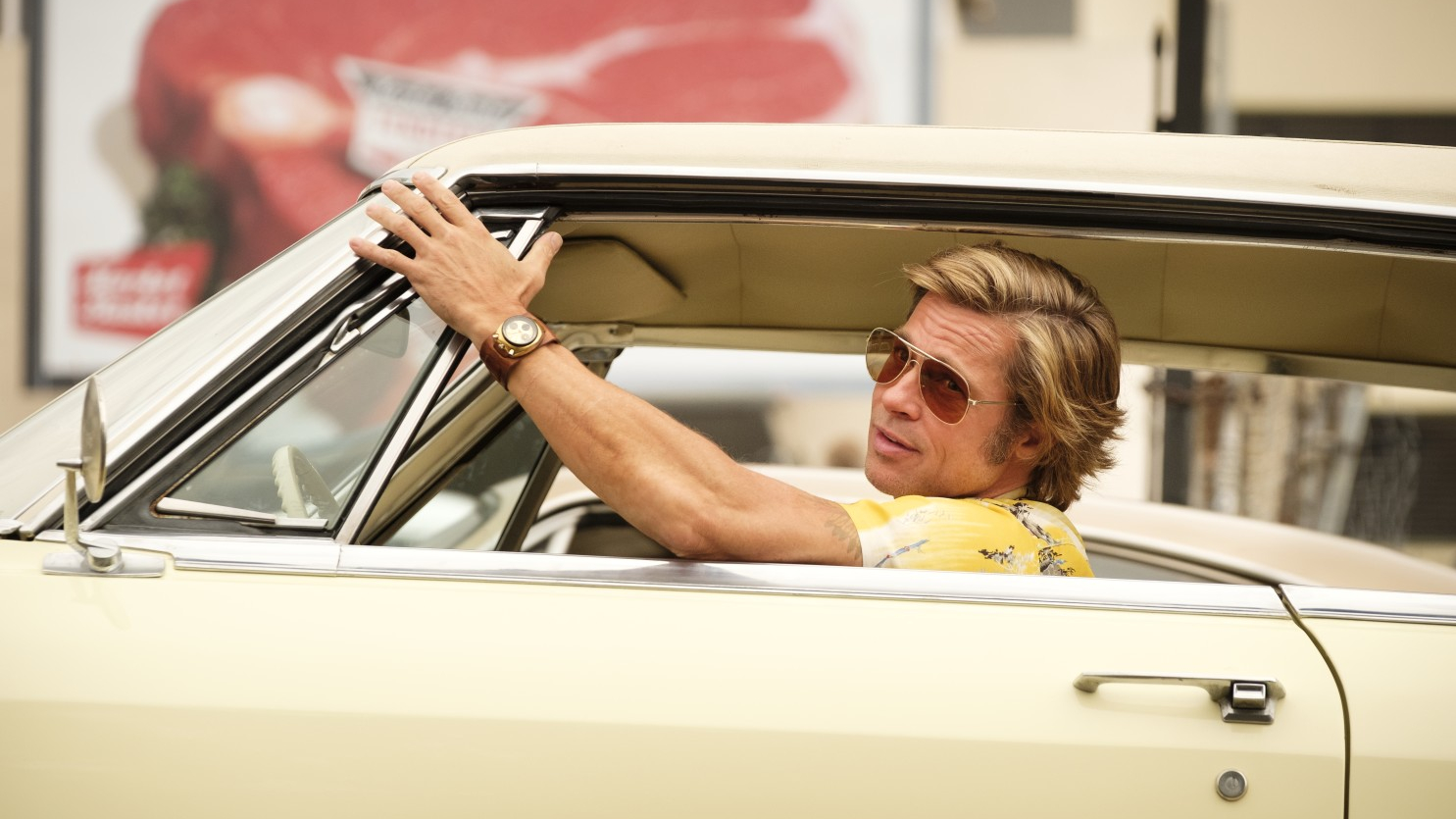 Once Upon a Time...in Hollywood (Quentin Tarantino, 2019), Sony Pictures, USA, 35 mm / 70 mm, colour, sound, 161 minutes, Cliff Booth (Brad Pitt)
