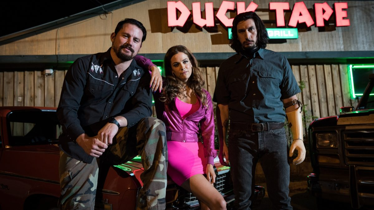 Logan Lucky (Steven Soderbergh, 2017), StudioCanal, USA, DCP, colour, sound, 119 minutes, Jimmy (Channing Tatum), Millie (Riley Keough), Clyde (Adam Driver)