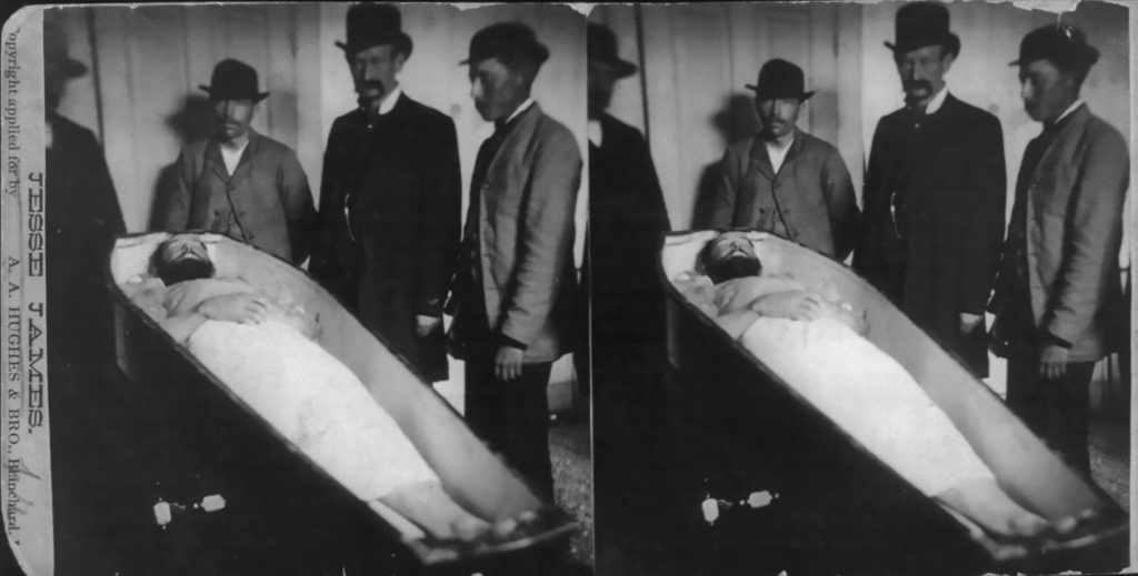 Jesse James. Dead and in Coffin, 1882. Library of Congress.