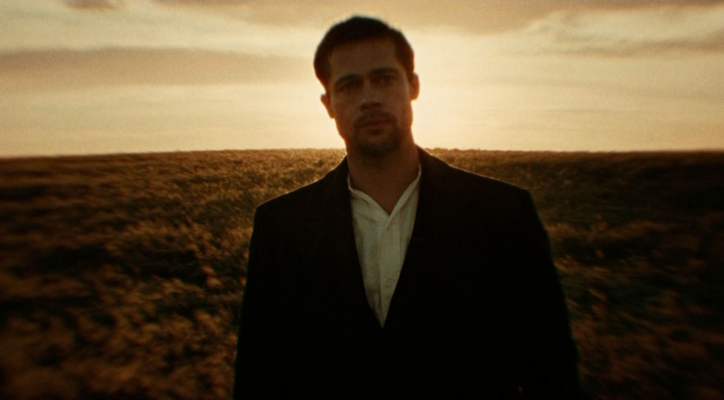 The Assassination of Jesse James by the Coward Robert Ford (Andrew Dominik, 2007), Warner Bros., USA, 35mm, colour, sound, Jesse James (Brad Pitt)